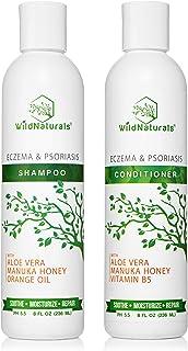 Wild Naturals Eczema Psoriasis Shampoo - Conditioner Set 8oz, 98% Natural, 80% Organic, Sulfate Free, Soothing Anti Dandru...