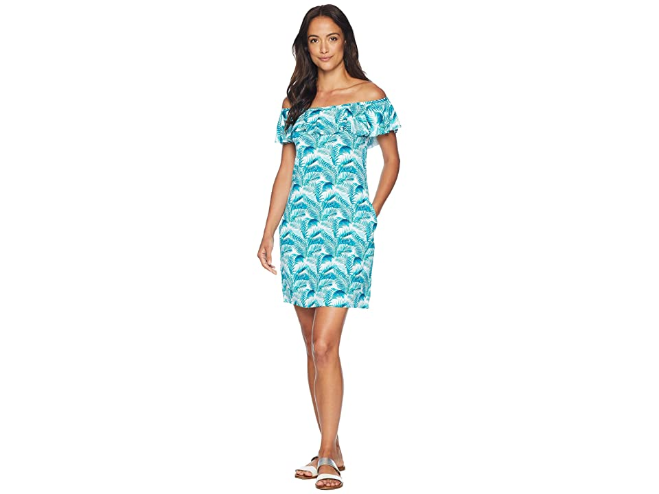 Tommy Bahama Among Fronds Ruffle Spa Dress Cover-Up (Ming Jade) Women