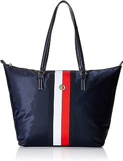 Tommy Hilfiger Damen Corporate Tote Shoppertasche Handtasche Blau