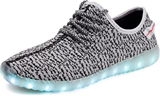 Unisex LED Luminous Knit Sneakers Fashion USB Charging Light Breathable Shoes