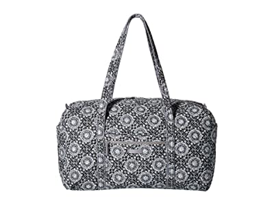 Vera Bradley Iconic Large Travel Duffel (Charcoal Medallion) Duffel Bags