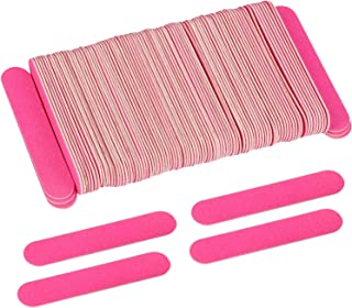 200 Disposable Mini Nail File Bulk 3.4 inch Double Sided Emery Boards for Fingernail Tools 150 Grit