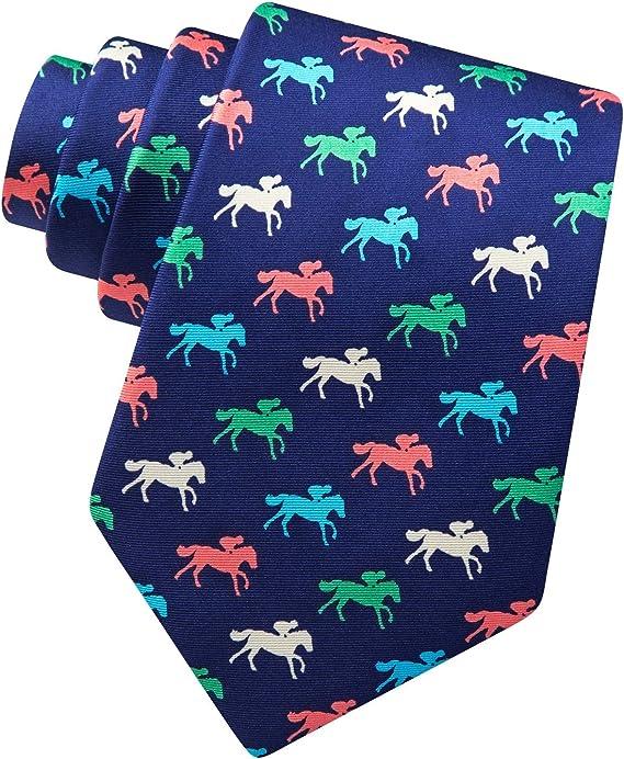 Mens 100/% Silk Photo Finish Horse Race Racing Kentucky Derby Bow Tie