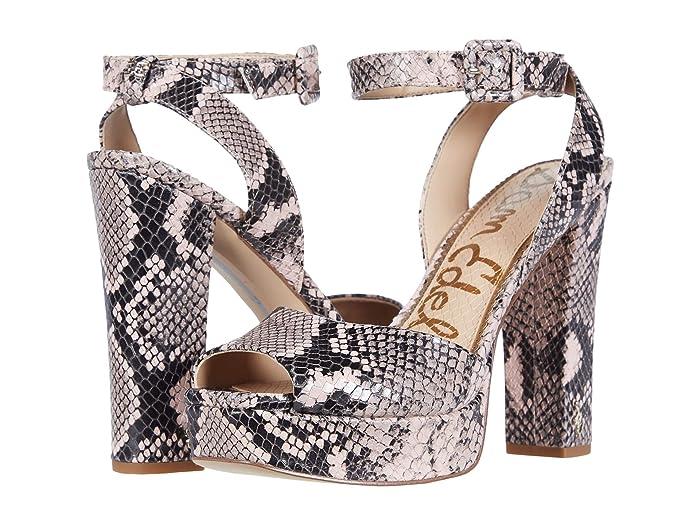 60s Shoes, Boots Sam Edelman Kath Deco Pink Exotic Snake Print Leather Womens Shoes $104.99 AT vintagedancer.com