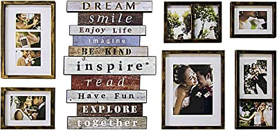 Jerry & Maggie - Luxury 7 Piece of | Photo Frame | Wall Decor Bar -