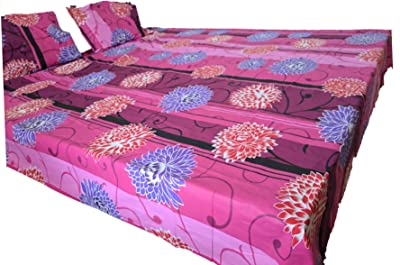 Double bedsheets with 2 Pillow Covers Cotton