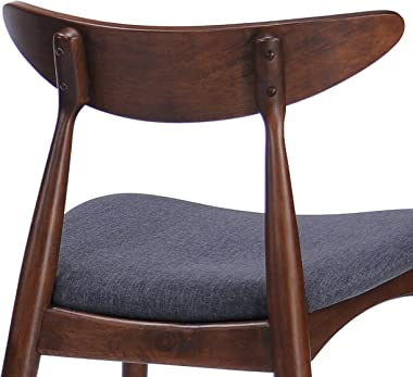 Christopher Knight Home Barron Fabric Dining Chairs, 2-Pcs Set, Charcoal
