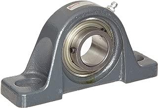 Browning VPLS-119 Pillow Block Ball Bearing, 2 Bolt, Setscrew Lock, Contact and Flinger Seal, Cast Iron, Inch, 1-3/16