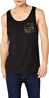 Contrast Pocket Jersey Big Tank Camiseta sin Mangas para Hombre