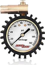 Accu-Gage Presta Valve Bicycle Tire Pressure Gauge, 160psi
