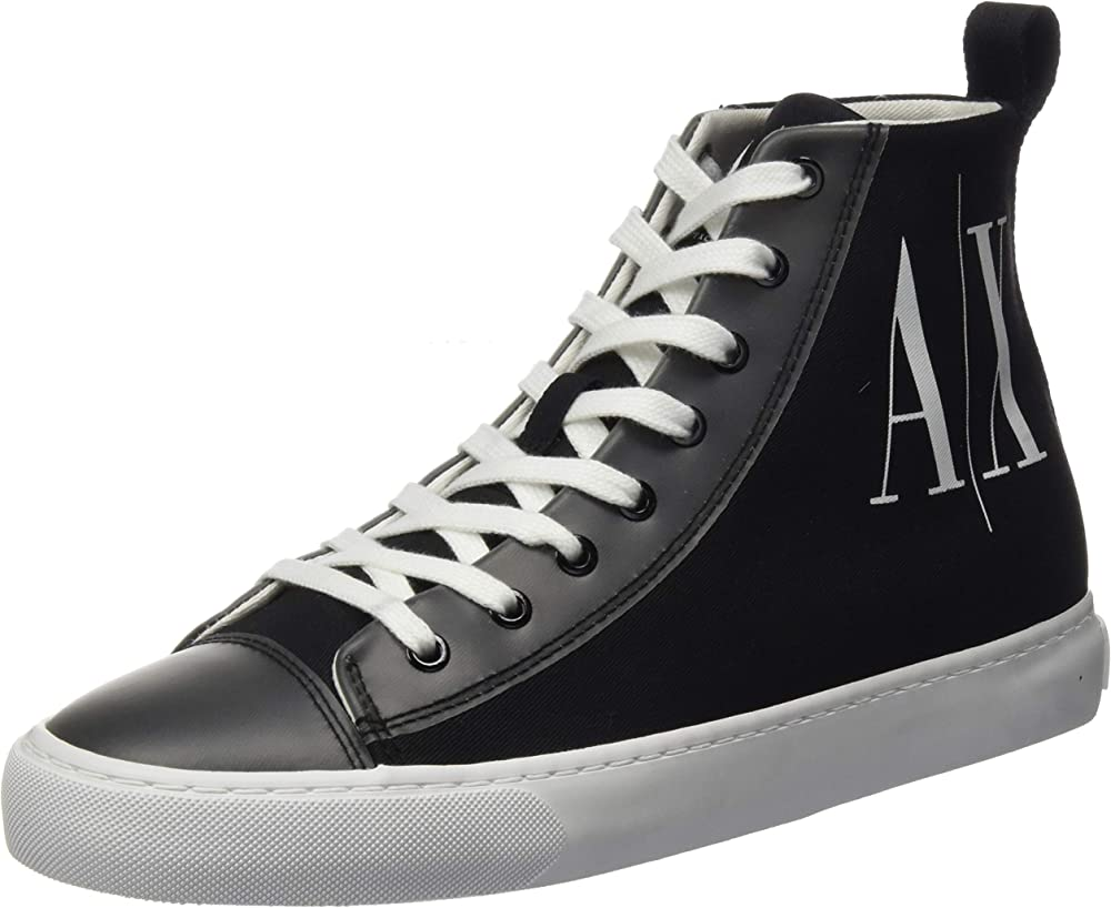 Armani exchange, sneakers a collo alto per donna,in tessuto XDZ012XV309