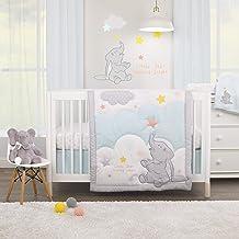 Disney Dumbo - Shine Bright Little Star Aqua, Grey, Yellow & Orange 3Piece Nursery Crib Bedding Set - Comforter, Fitted Cr...
