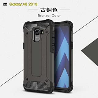 ZITEZHAI-protection Armour Tough Style Shockproof PC+TPU Protective Hard Case for Samsung Galaxy A5 2018 / Galaxy A8 2018 (Color : Bronze)