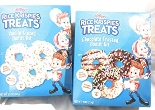 Rice Krispies Treats Chocolate Frosted and Vanilla Glazed Donut Cooking Kits
