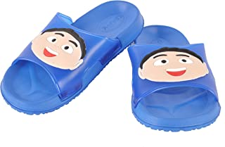 Yellow Bee Dark Blue Slide Slippers