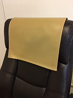 luvfabrics Vinyl, Faux Leather PVC Khaki,14x30 Sofa Loveseat Chaise Theater Seat, RV Cover, Chair Caps Headrest Pad, Recliner Head Cover, Furniture Protector
