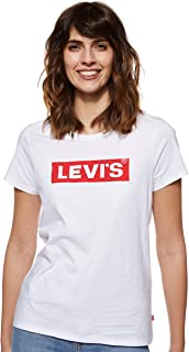 Levi's Women's Perfect Graphic Regular Fit Crew Neck T-Shirt, Black, Medium