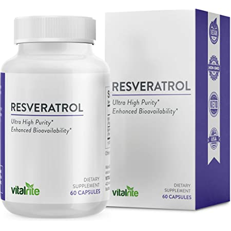 Amazon.com: VitalRite - Resveratrol Therapeutic Supplement, Antioxidant to  Support Cellular Health, Promotes Cardiovascular & Immune System Health -  30 Servings 600mg High Potent Trans Resveratrol: Health & Personal Care