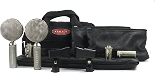 Cascade Microphones FAT HEAD BE Stereo Pair - Grey Body/Anodized Silver Grill,