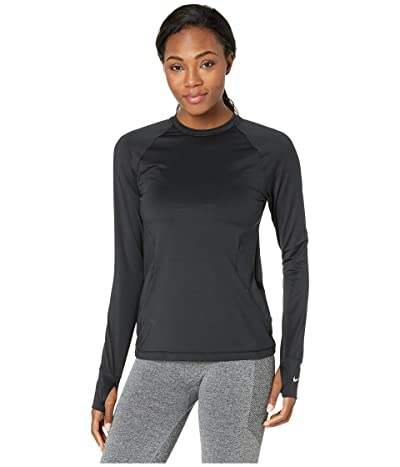Nike Pro Warm Crew (Black/White) Women