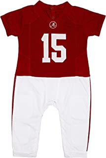 University of Alabama Crimson Tide Striped Footed Baby Romper