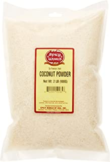 Coconut Powder - Fine Shredded & Unsweetened - 2 LB Bag - Dried & Desiccated - by Spicy World