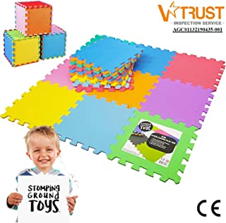 Stomping Ground Toys - 18 Alfombras Puzzle EVA Coloridas