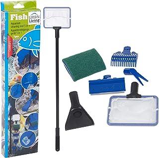 Kit de limpieza de acuario 5 en 1 para acuario, para pecera, rastrillo de