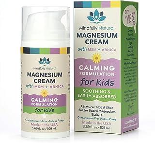 Magnesium Cream Pain Relief Cream for Kids - Body Cream Helps with Growing Pains, Sleep & Calming - 86% Organic Magnesium ...