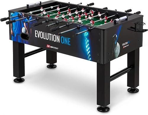 Hop-Sport Tischkicker EVOLUTION TischFußball in 3 Farbvarianten inkl. 2 B e, 2 Getr ehalter, 2 Torz er, massiv und rutschfest, justierbare Fü