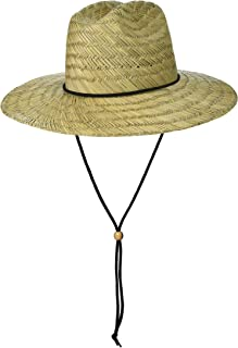 Brooklyn Surf Men's Straw Sun Classic Beach Hat Raffia Wide Brim, Natural, One Size