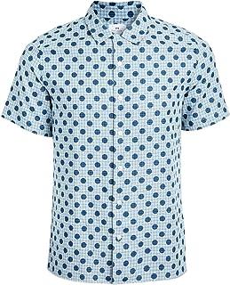 PS Paul Smith Men's Casual Fit Polka Dot Short Sleeve Shirt