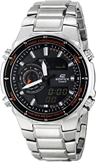 Casio Mens EFA-131D-1A4VCF Edifice Analog-Digital Silver-Tone Stainless Steel