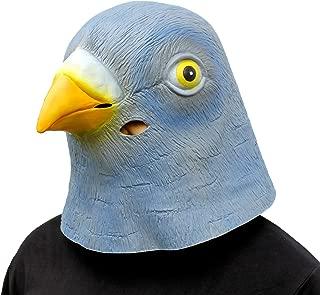 CreepyParty Novelty Halloween Costume Party Latex Birds Head Mask (Pigeon) Blue