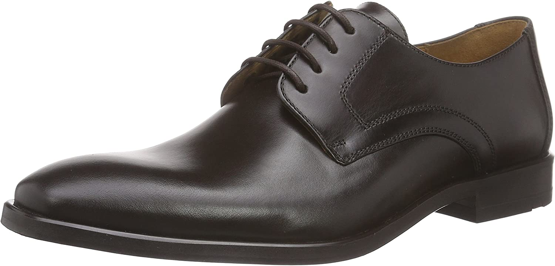 Lloyd Mens Dark Brown Danville Leather Derby shoes-UK 12