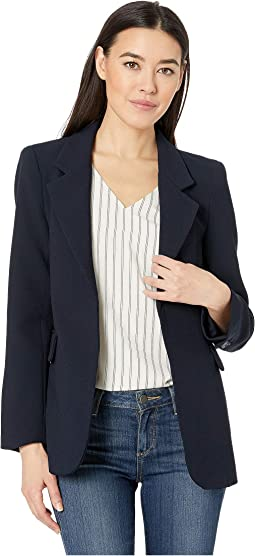 Parisian Crepe Notch Collar Blazer