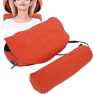 Yctze Almohada de Masaje Cervical eléctrica, Multifuncional Almohada de Masaje Cervical Cintura Espalda Masajeador de Cuello Moxa Ideal para Uso doméstico en automóvil (Rojo)(Enchufe DE LA UE)