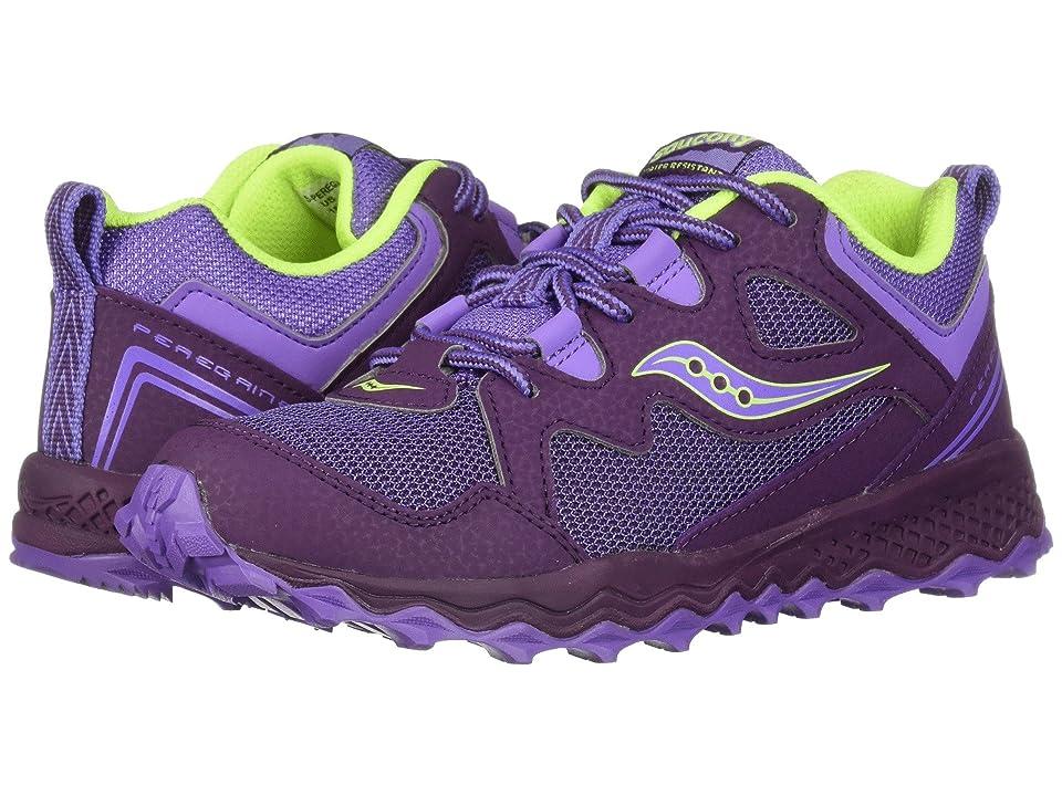 Saucony Kids Peregrine Shield 2 (Little Kid/Big Kid) (Purple/Citron) Girls Shoes