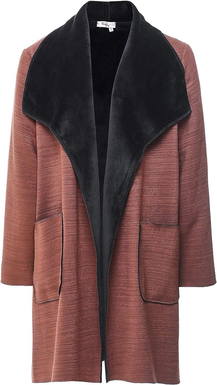 Thanny Women's Reversible Faux Sheepskin Coat Brown