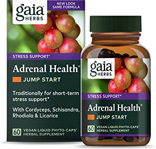 Gaia Herbs Adrenal Health Jump Start, Adrenal Fatigue Supplement for Mood Support and Optimal Energy with Rhodiola, Ginsen...
