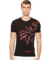 Versace Jeans - Palm Print Graphic Tee