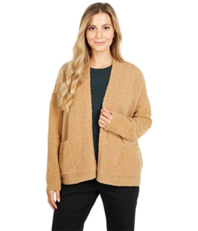 Eileen Fisher Organic Cotton Boucle Cardigan (Honey) Women