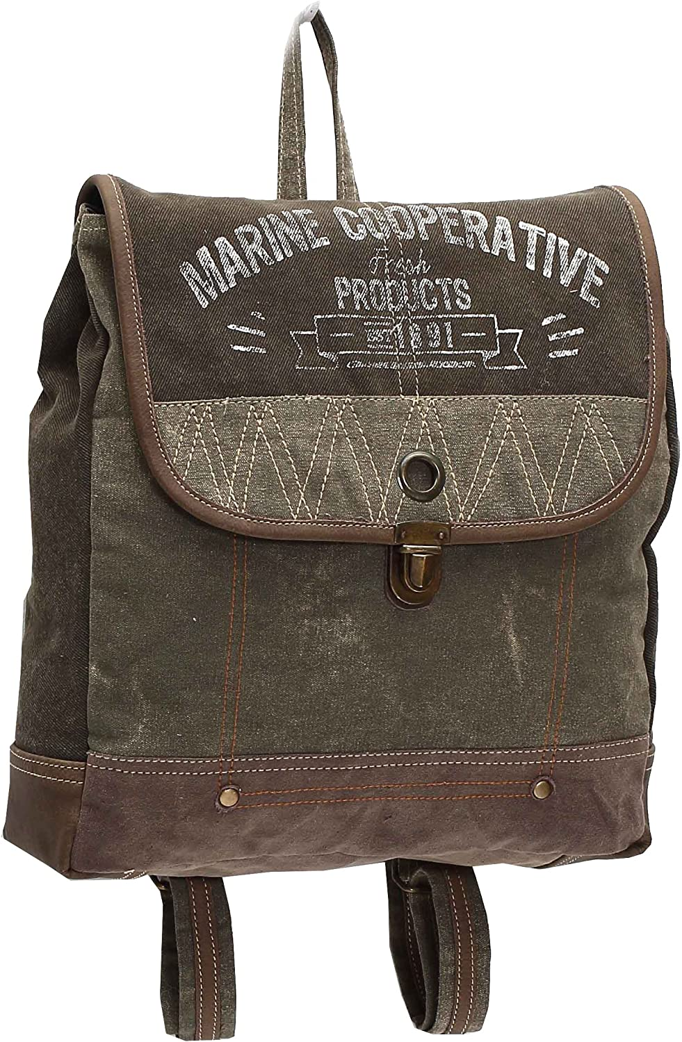 Myra Bags Marine Cooperative Upcycled Canvas Backpack Bag M1007