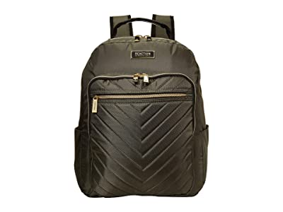 Kenneth Cole Reaction Polyester Twill Chevron Backpack (Olive) Backpack Bags