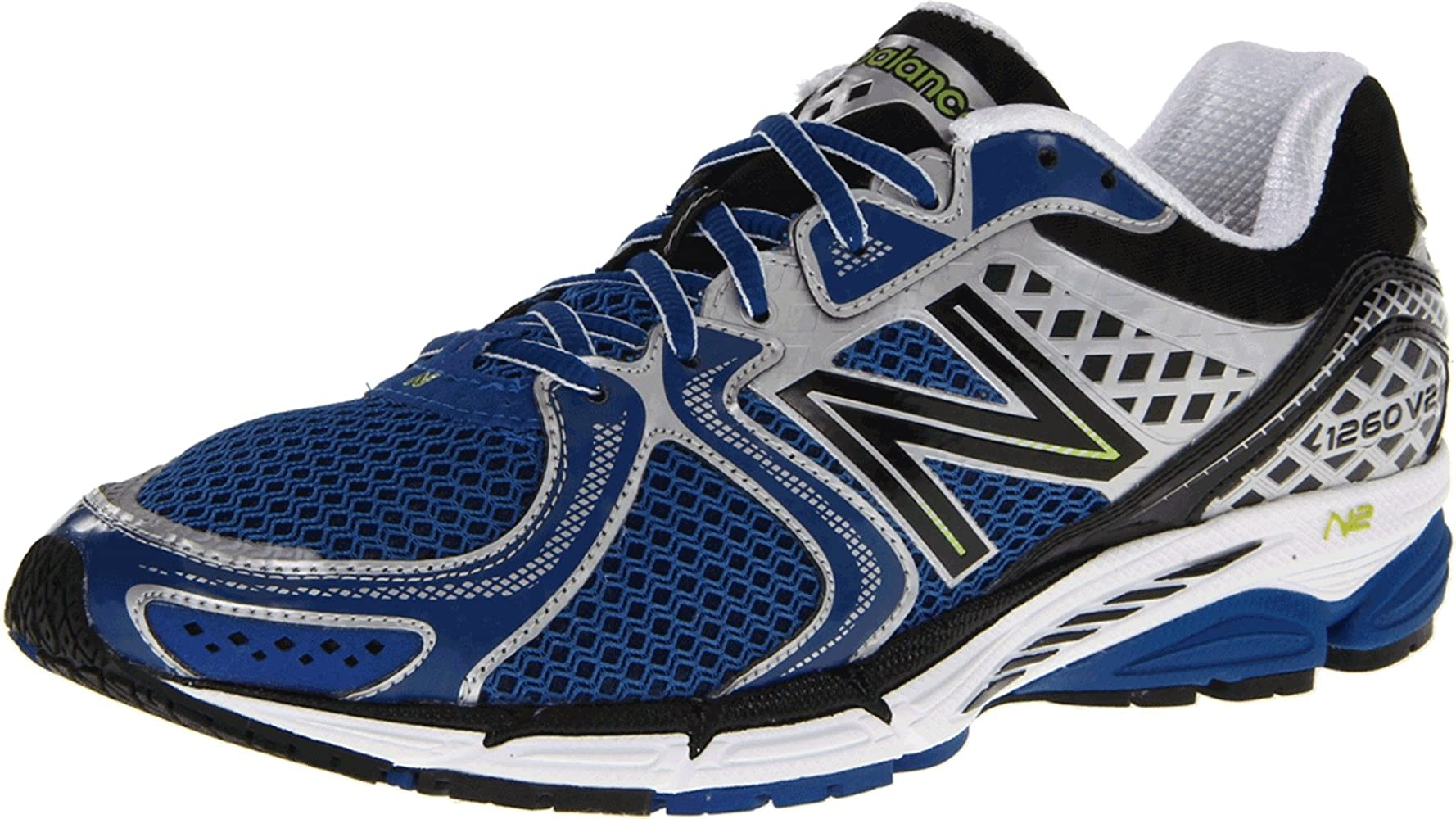 Amazon.com | New Balance Men's 1260 V2 Running Shoe, Blue/Black, 8 ...