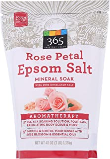 365 Everyday Value, Epsom Salt Mineral Soak, Rose Petal, 48 oz