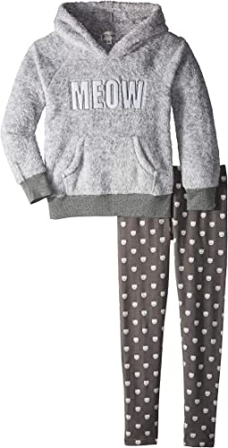 Playful Plush Hoodie Leggings Meow Set (Toddler/Little Kids/Big Kids)