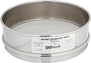 "Newark Wire 0310211 Market Grade Test Sieve, 100 x 100 Mesh, 140 Micron Opening, 8"" Diameter, Full-Height"