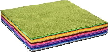 flic-flac 28pcs 12 x 12 inches (30cmx30cm) 1.4mm Thick Soft Felt Fabric Sheet Assorted Color Felt Pack DIY Craft Sewing Sq...