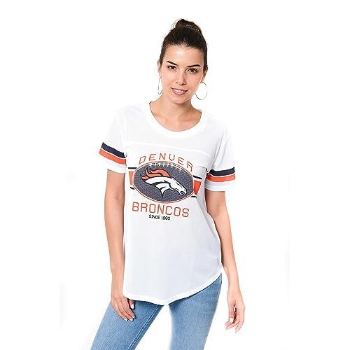 ICER Brands NFL Women s Jersey T-Shirt Mesh Varsity Stripe Tee Shirt a840d708e8